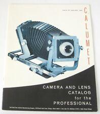 Calumet Camera and Lens Catalog Original 1965 Photographic Literature