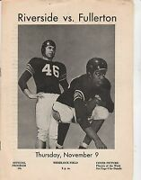 1950s? VINTAGE COLLEGE NCAA FOOTBALL program RIVERSIDE vs FULLERTON