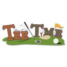 Tee Time Title Golf Sand Trap Golfer Course  Tee Jolee's 3D Sticker
