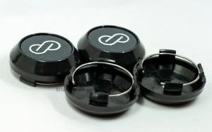 4pcs 64mm Enkei Wheel Center Caps Rim Caps Hub Caps Emblems Decals Black Carbon