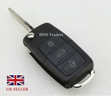 REMOTE FLIP KEY FOB CASE SHELL 3 BUTTON BLANK BLADE For Skoda OCTAVIA FABIA A61