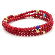TATEOSSIAN Stunning Rocktonica London Red Coral And 19K Gold Mens Bracelet ❤️💛