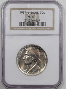 1937-S BOONE COMMEMORATIVE HALF DOLLAR - NGC MS-64