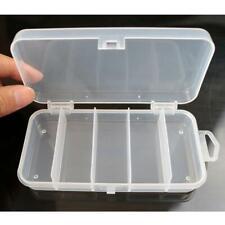 Plastic 5 Compartments Fishing Tackle Box Fish Lure Hook Bait Storage Case HY#U