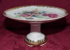 Royal Sealy China Moss Rose  Miniature Pedestal Cake Plate