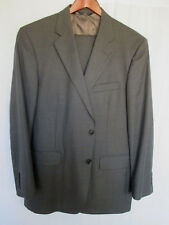Brooks Brothers Men's Suit 42R 35x31 Distinguished Gray Pinstripe 100% Wool