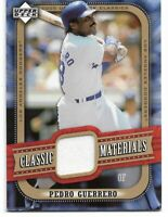 Pedro Guerrero 2005 Upper Deck Classic Materials Jersey card#MA-PG-Dodgers