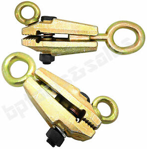 (Qty 2) 2 WAY 5 TON FRAME BACK SELF-TIGHTENING GRIP AUTO BODY REPAIR PULL CLAMP