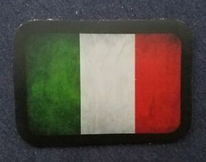 ALL Leather VINTAGE STYLE Italian Flag jacket vest hat  SEW ON  Patch