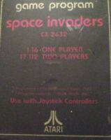 SPACE INVADERS Atari 2600 1977 Game Cartridge VINTAGE FREE SHIPPING
