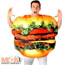 Burger Adulti Costume Divertente Cibo Hamburger Cheeseburger Uomo Donna Costume