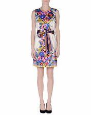 NWT RED VALENTINO watercolor bouquet & striped fantasy dress IT 46 US 8