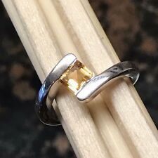 Natural 1ct Golden Citrine 925 Solid Sterling Silver Engagement solitaire ring 6