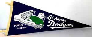 Vintage MLB Baseball Felt Pennant LOS ANGELES DODGERS STADIUM