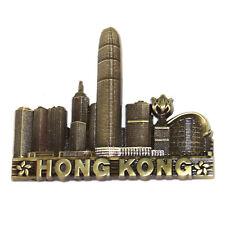Hong Kong Tourist Travel Souvenir 3D Metal Fridge Magnet Gift