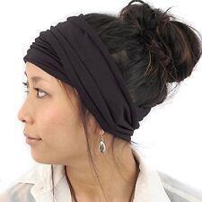NEW Mens Japanese Elastic Cotton Headband Wrap Bandana CharcoalGray