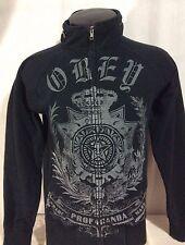 Black Skull OBEY Hoodie Sweatshirt Medium