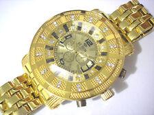 Ice Trend Bling Bling Goldtone Bracelet 7-color Light Men's Watch Item 2835