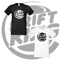 Drift King Fun Tshirt Auto Race Car Moto Track Funny Mens Shirt All Sizes S XXXL