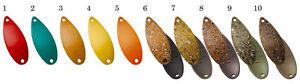 FOREST MIU kagerou series 2.2g Trout Spoons 10 Color set!