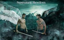 "Supernatural - US TV Show Season Art Fabric poster 21"" x 13"" Decor 067"