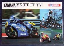 YAMAHA YZ TT IT TY Motorcycles Range Brochure 1987