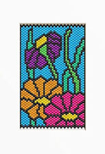 Stained Glass Wildflowers~Beaded Banner Pattern