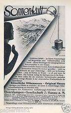 Höhensonne Hanau Reklame 1931 Sonnenkult Sonne Werbeklotz Quarzlampe sunray lamp