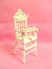 Hansson Dollhouse Miniature 1:24- White/Gold High Chair