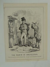 PUNCH cartoon 1845 the march of speculation