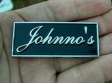 UK ~ JOHNNO'S CAR BADGE Chrome Metal Emblem To Personalise Your Car John *NEW!*