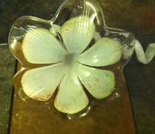 Murano Style Handmade Art Glass 6 Petal Flower Twisted Stem