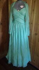 Chris Kole Crisada Gown Dress Pleated w/  Scarf Ladies size 12.NWT