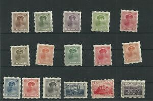 Postage Stamps Luxembourg 1921/22 -  119/134  MH*