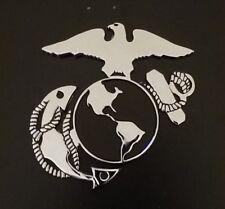 USMC US MARINE CORPS METAL AUTOMOBILE EMBLEM - MADE IN USA!!