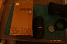 NIKON 55MM TO 300MM  VR TELEPHOTO LENS ; BAG FILTER & LENS HOOD - BOXED