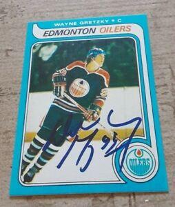 Wayne Gretzky 1979 #18 Rookie Card Autograph PLEASE READ DESC