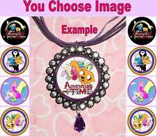 ADVENTURE TIME Children's Rhinestone Ribbon Necklace U Choose Image Jake Finn
