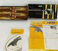 "GUNLINE TOOLS C-55 LEADER 18 LPI 4 PIECE ""CAMP PERRY"" CHECKERING SET w/box VTG"