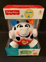 Fisher Price Bounce and Giggle Ball Cow Toy For Children 6-36 Mos