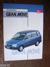 Daihatsu Gran Move Prospekt / Brochure / Depliant, French