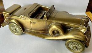 RARE Vintage Banthrico Antique Auto Coin Bank 1930 Cadillac Roadster Mint!