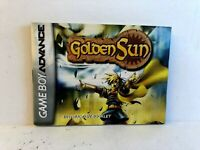 Golden Sun GBA MANUAL ONLY Authentic Nintendo