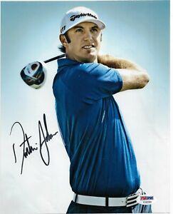 DUSTIN JOHNSON PGA TOUR STAR HAND SIGNED COLOR 8X10 W/ PSA COA Y56293