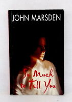 So Much to Tell You by John Marsden teen novel used condition paperback 2000