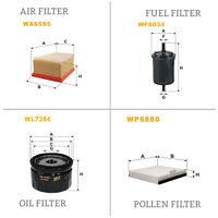 WIX AIR POLLEN OIL & FUEL Filter Service Kit WA6595,WP6880,WL7254,WF8034