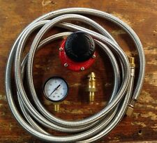 HP, Regulator Kit  for Cookers & Smokers. 0-60 Psi, 10 Stainless Braided  Hose