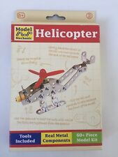 Model Mechanic Metal Helicopter by Tobar 60+ Piece Model Kit age 8+, with Tools