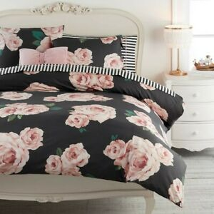 POTTERY BARN TEEN EMILY MERITT THE BED OF ROSES DUVET COVER
