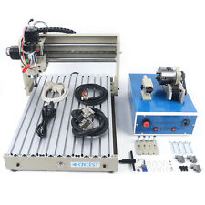 4 Axis 3040 Router 400w Desktop Drilling Milling Machine Wood Engraver G Code
